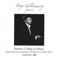 Faculty Recital at Mannes College of Music